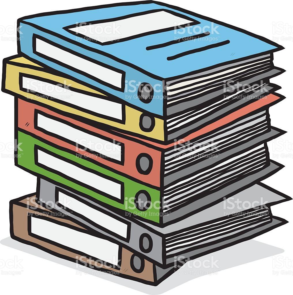 Pile de documents clipart 8 » Clipart Station.