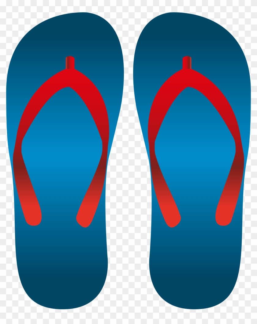 Blue Flip Flops Png Clip Art, Transparent Png (#1016006.