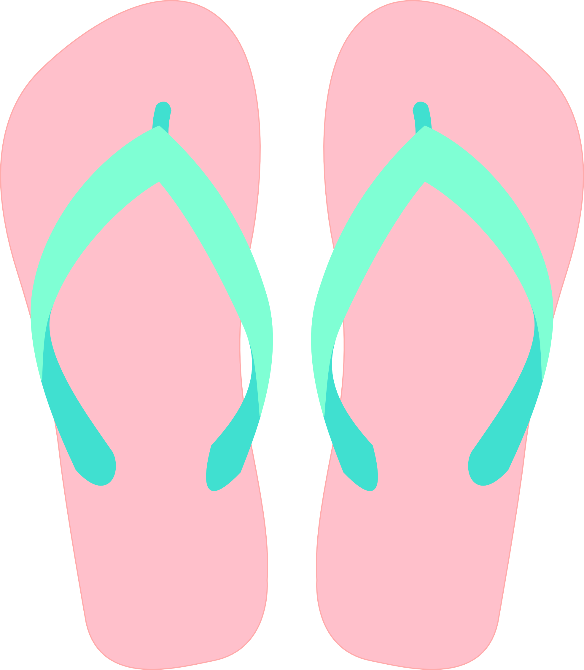 freeclip art flip flop.