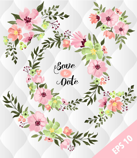 Spring Floral floral elements, Watercolor flower designs, Spring flowers  Clip art, Floral invitations elements and clip art, Scrapbooking.