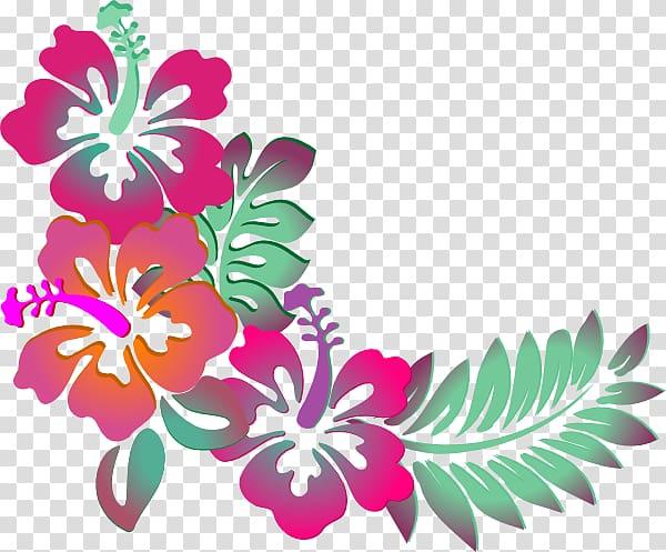 Cuisine of Hawaii Luau , Hawaiian Flower Designs transparent.