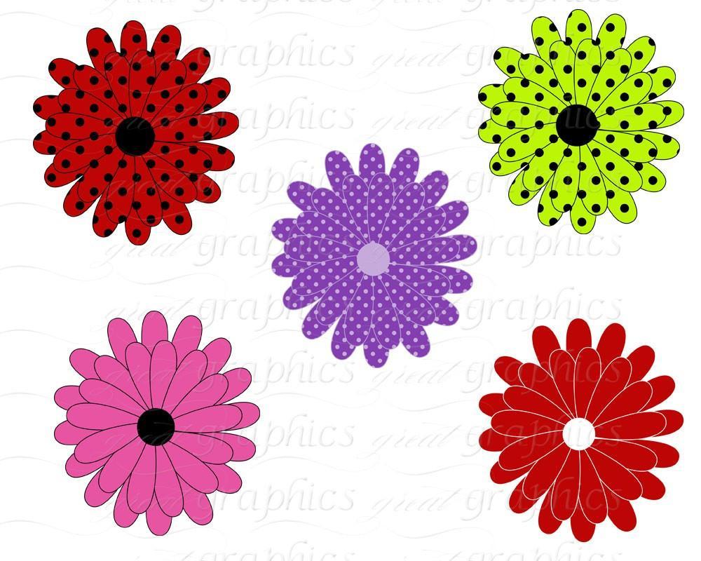 Flower Digital Clip Art Flower Clipart Printable Daisy Clipart Digital  Clipart Flowers Scrapbooking.