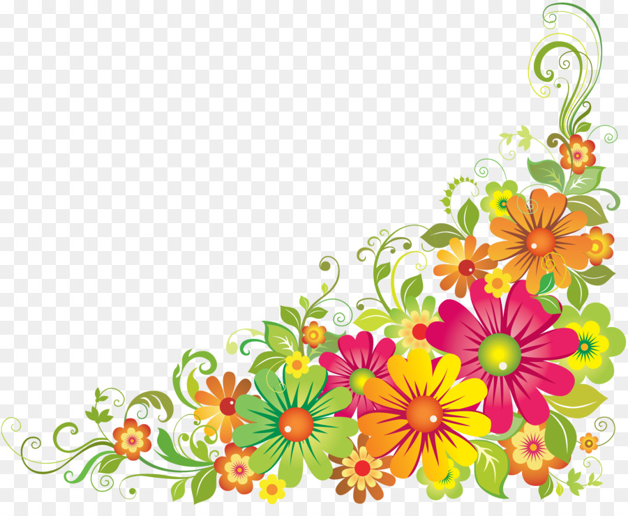 Floral Flower Background clipart.