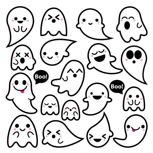 Best Ghost Illustrations, Royalty.