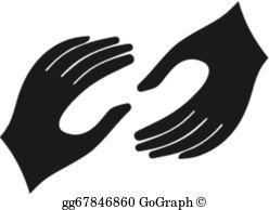 Helping Hands Clip Art.