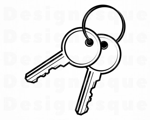 Keys SVG #2, Key SVG, Key Ring Svg, Keys Clipart, Keys Files for Cricut,  Keys Cut Files For Silhouette, Keys Dxf, Keys Png, Keys Eps, Vector.