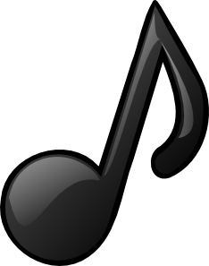 Music Notes Clipart Black And White.