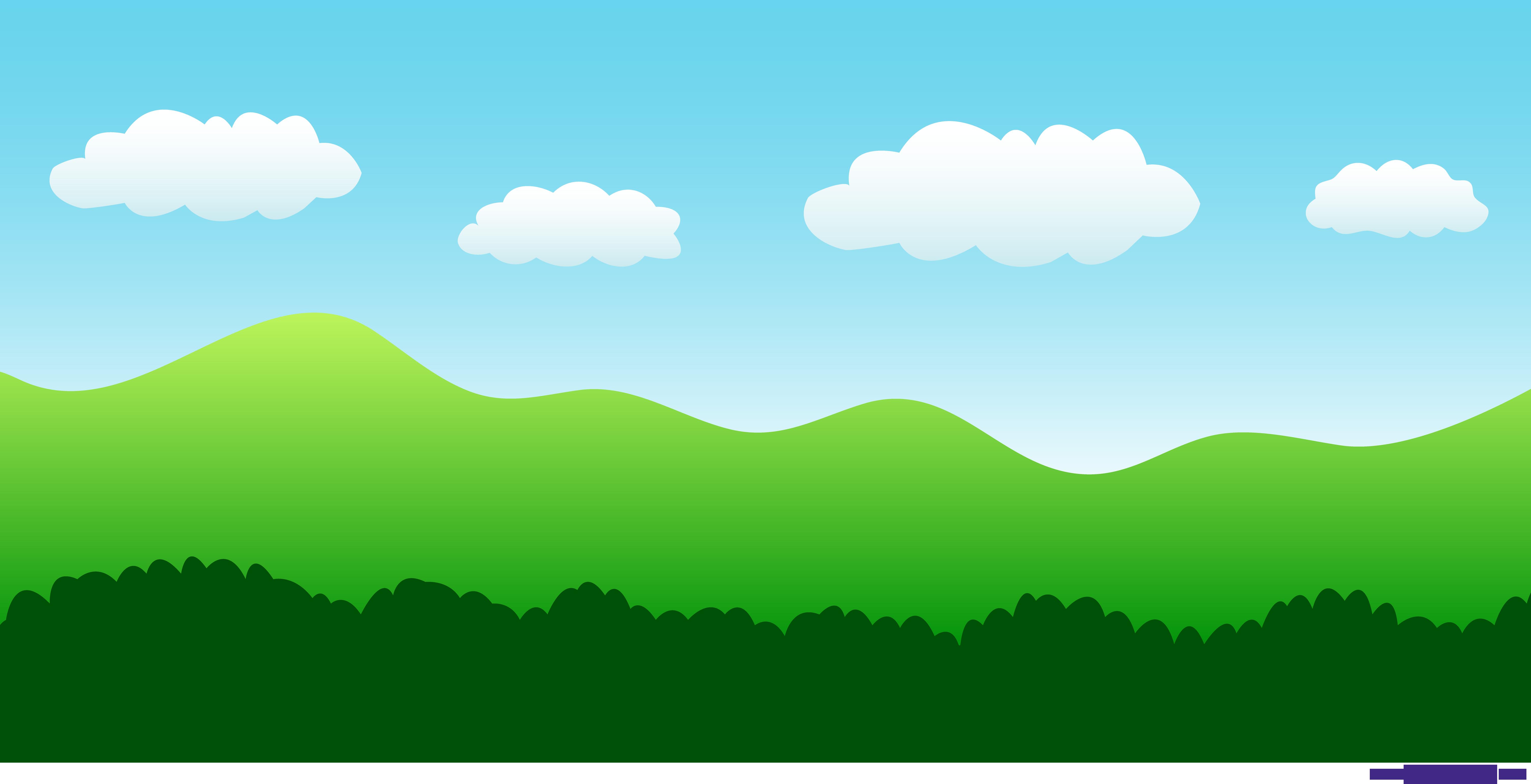 Nature Settings Simple Landscape 1 Clipart.
