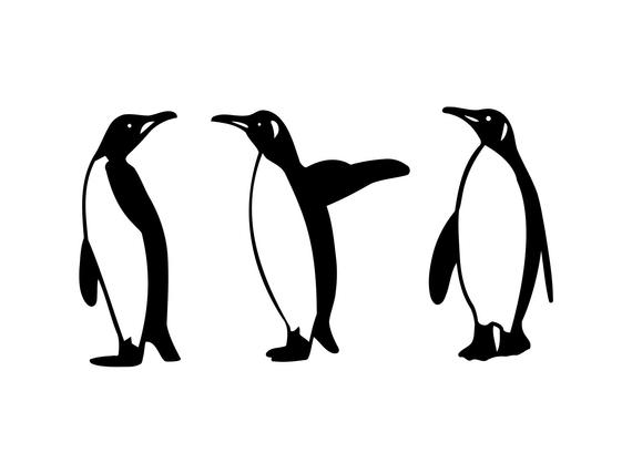Penguin Clipart Winter Clip Art, Penguins Clipart Penguin Svg Penguin  Graphics Cute Penguin Graphics Digital Clipart.
