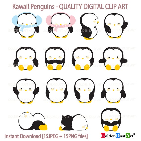Penguin Clipart, Kawaii Penguins Clipart, Cute Penguins Clipart, Kawaii  Penguin, Kawaii Clipart, Kawaii Penguin Clipart,.