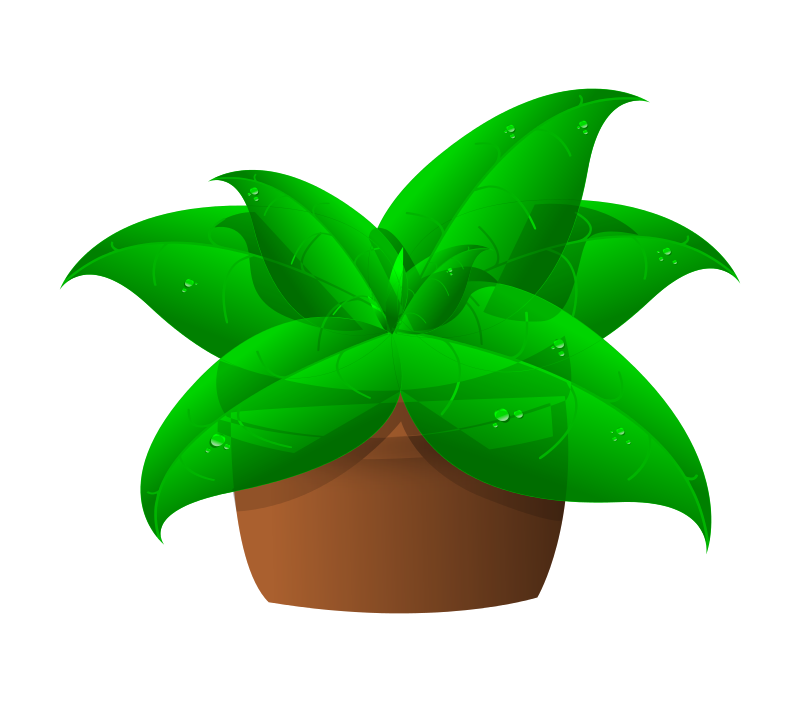 Free Clipart: Plants in pot.