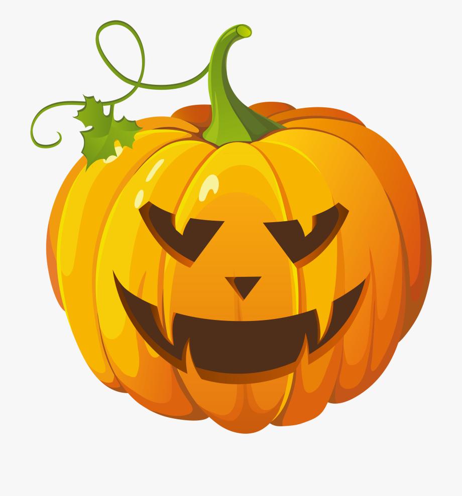 Cute Halloween Pumpkin Clip Art.