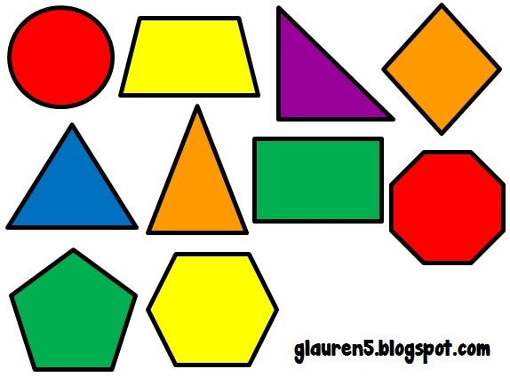 Geometric Shapes Clipart with regard to Geometric Shapes Clip Art.
