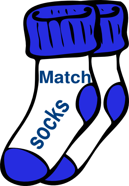 Matching Socks Clipart.