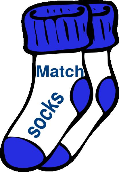 Matching Socks Clipart.