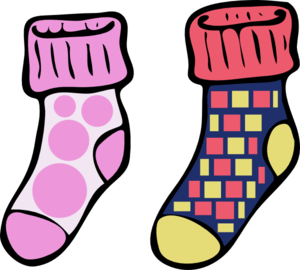 Crazy Socks Clipart.