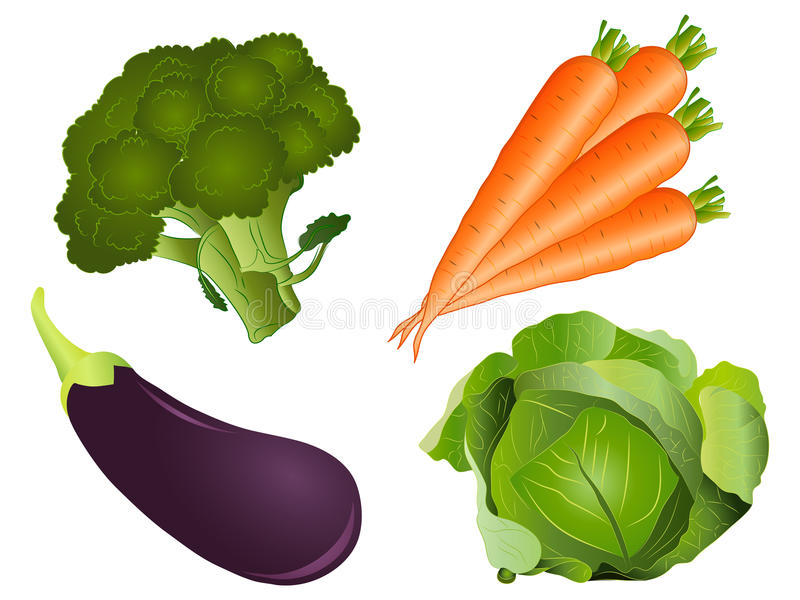 Vegetable Clipart Set stock image. Illustration of illustration.