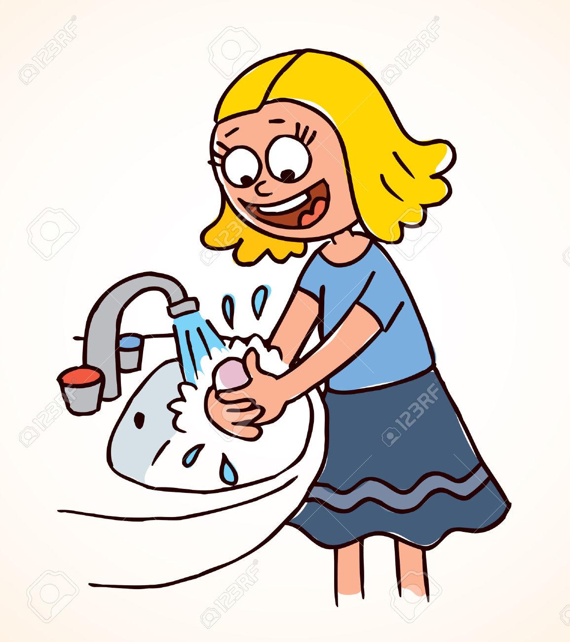 Wash Hands Clipart.