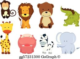 Wild Animals Clip Art.