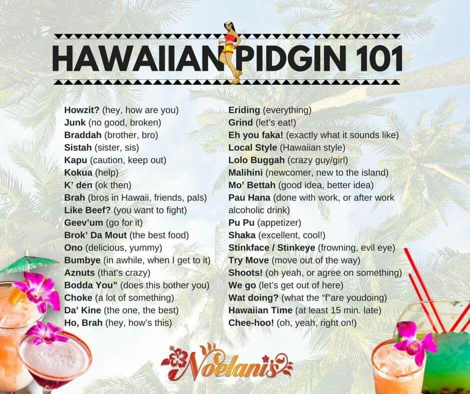 Hawaiian Slang in 2019.