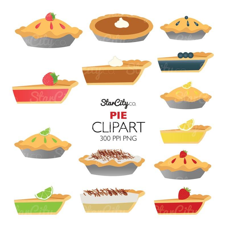 Pie clipart, Fruit Pie Clip Art, Pie Graphics, Food clipart, Coconut Pie  clipart, Pie slice clipart, Commercial Use, instant download.