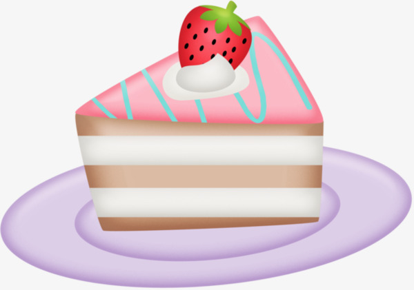 A Piece Of Cake, Cake Clipart, Hand Painted, Material PNG.