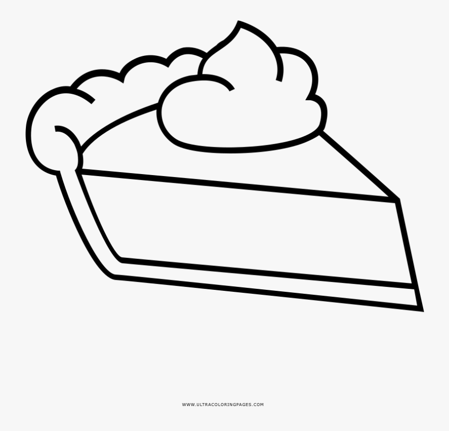 Pie Slice Coloring Page.