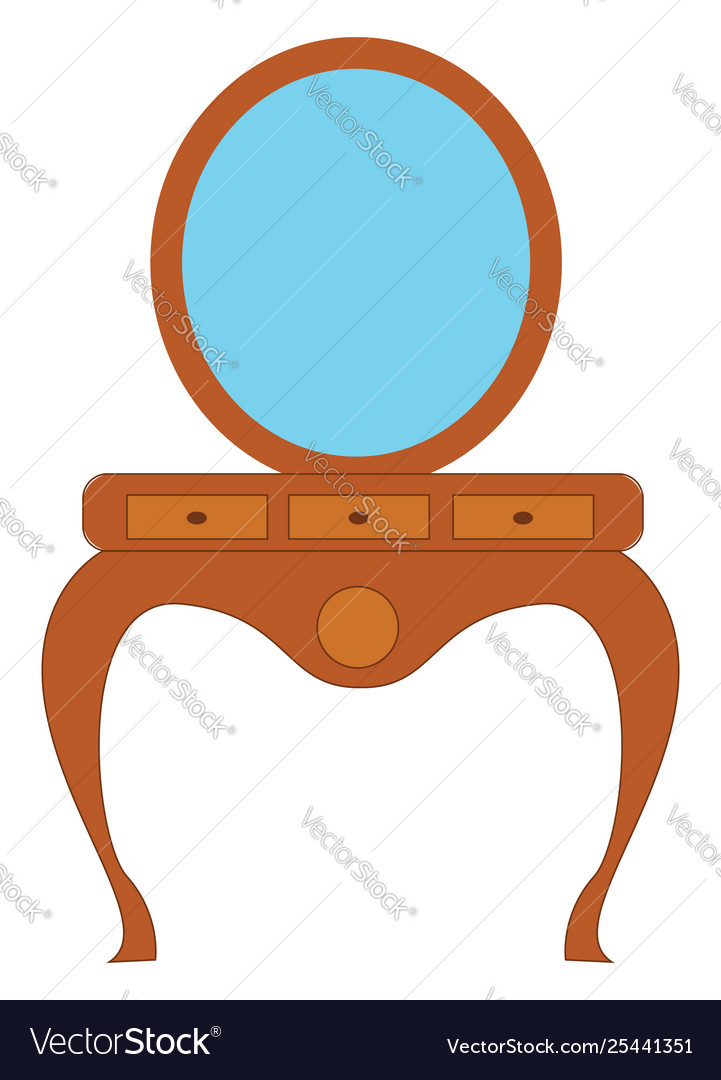 Clipart pier glass set isolated on white.