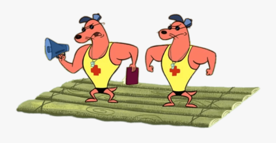 Camp Lazlo Characters Pierre And Noneck On A Raft.