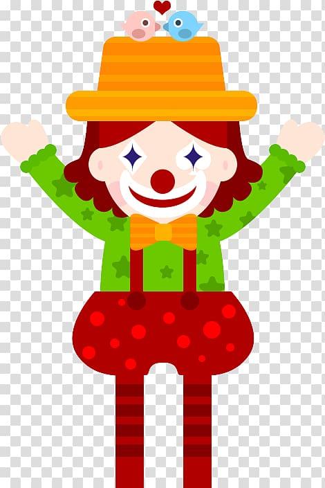 Clown Pierrot April Fools Day, clown transparent background.