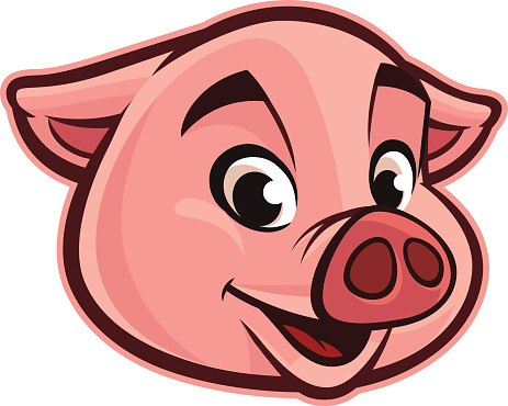 Pig face pig head clipart clipartxtras.