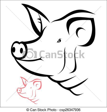 Pig head.