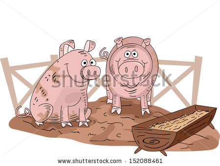 Pig Pen Stock Images, Royalty.