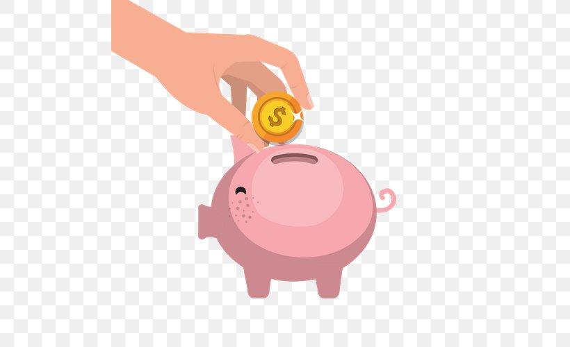 Saving Money Piggy Bank Clip Art, PNG, 500x500px, Saving.