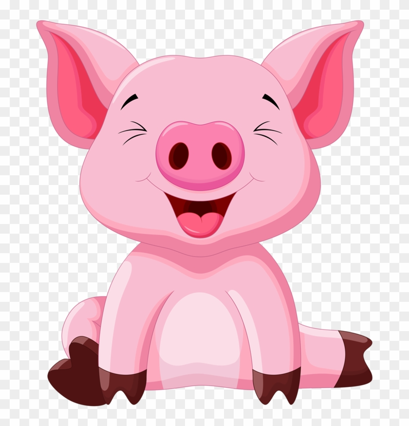 Cute Clipart, Cute Animal Clipart, Cute Pigs, Baby.