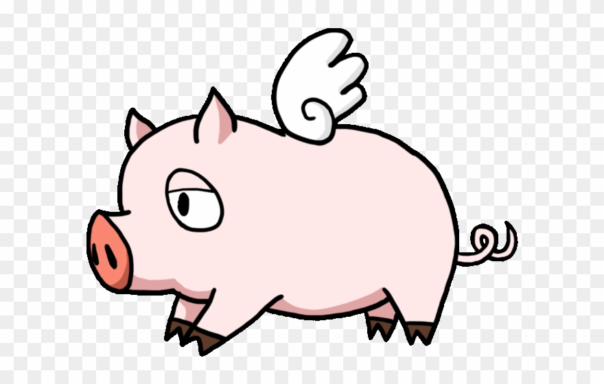 Flying Pig Png Clipart (#1331541).