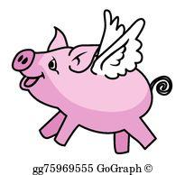 Flying Pigs Clip Art.