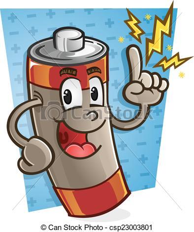 Battery Cartoon Character.