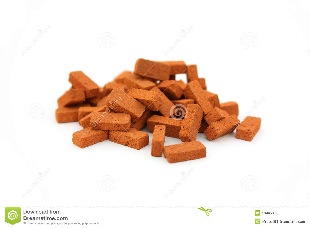 Pile Of Bricks Royalty Free Stock Photo.