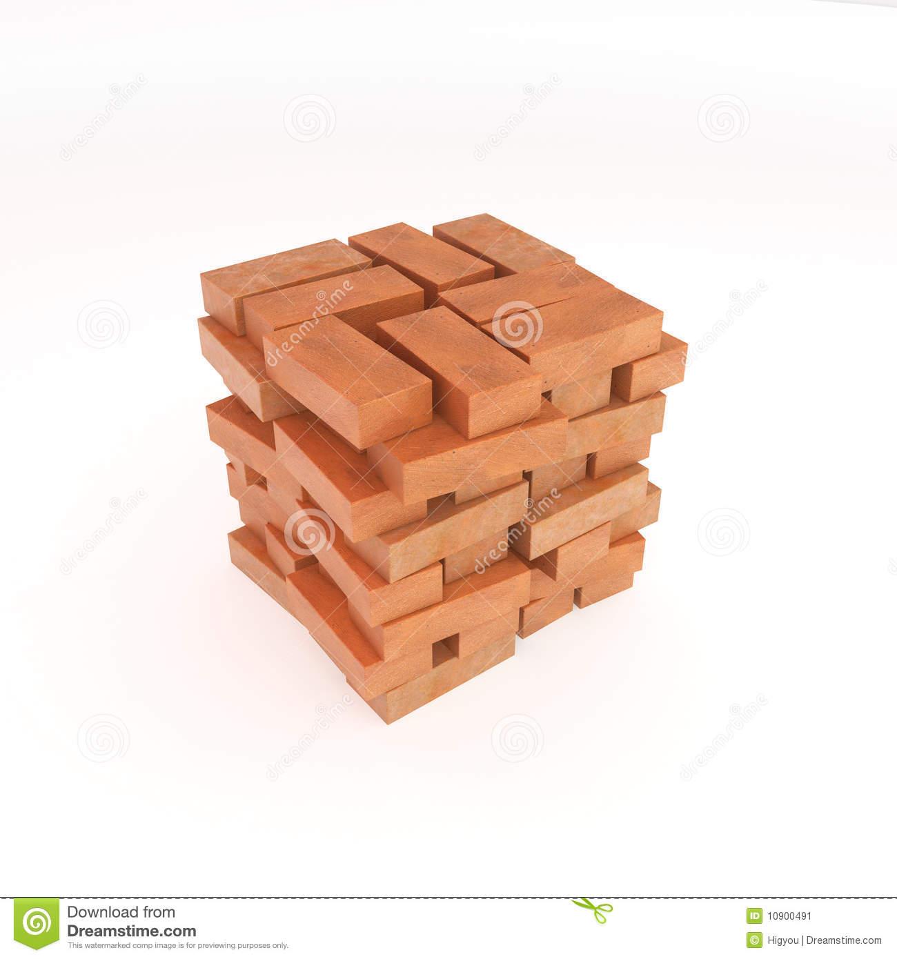 Pile Bricks Stock Illustrations.