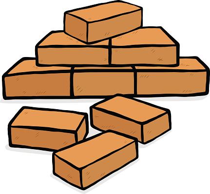 Clipart Pile Of Bricks.