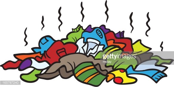 Pile Of Dirty Clothes Clipart Image.