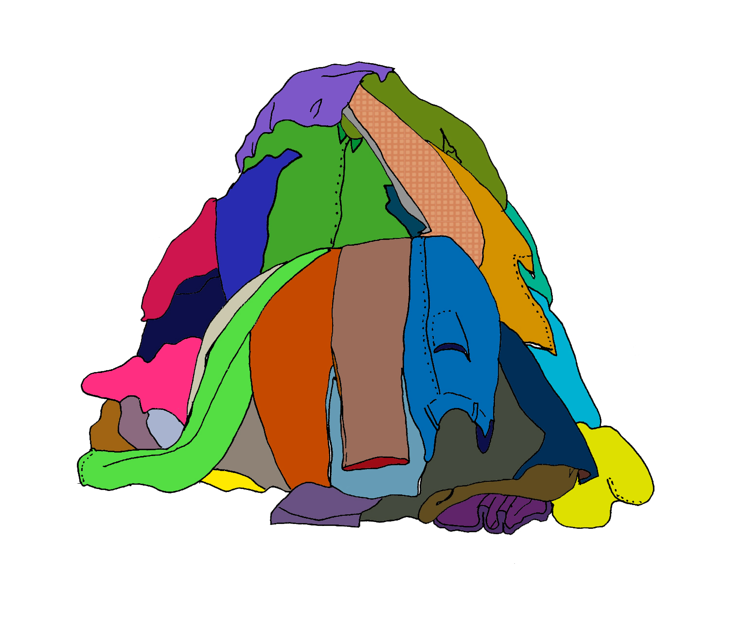 Dirty Clothes Pile Clipart.