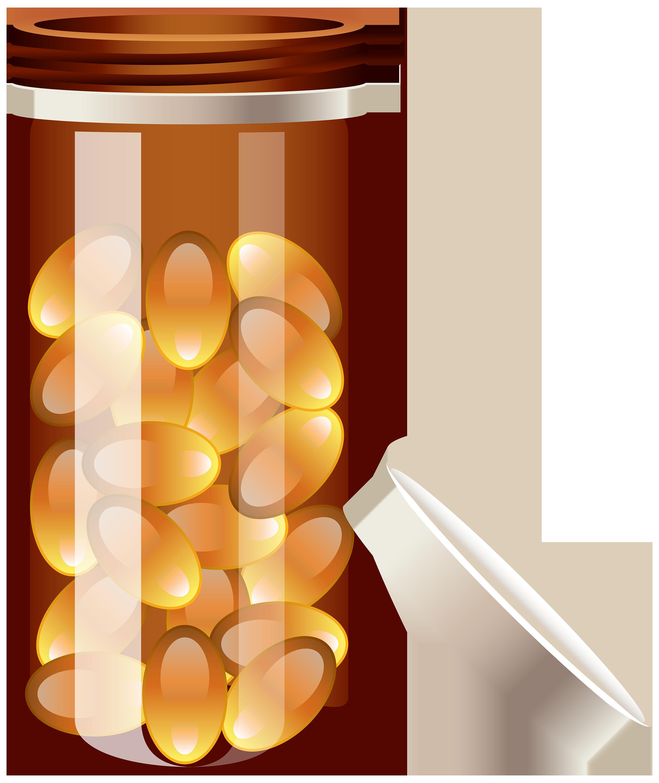 Pill Bottle PNG Clipart.