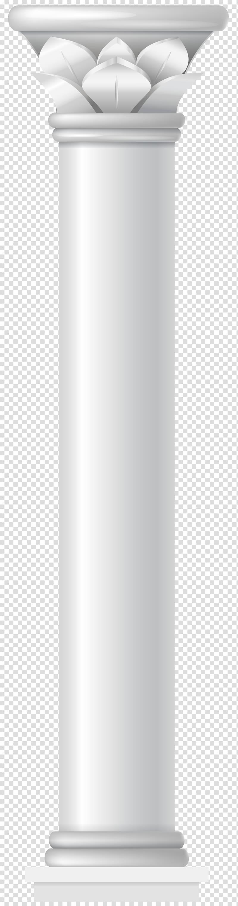 White pillar digital illustration, Angle Cylinder, Pillar.
