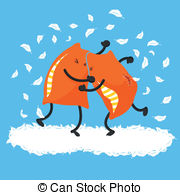 Pillow fight Clip Art and Stock Illustrations. 85 Pillow fight EPS.