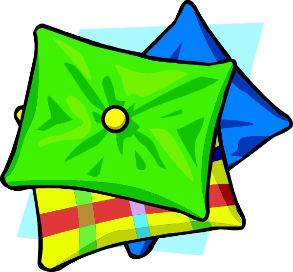 Pillows clip art Free vector in Open office drawing svg.