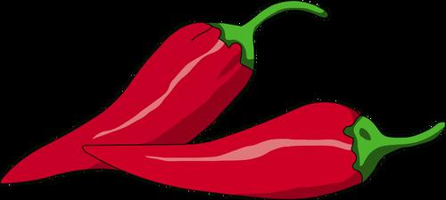 Ilustração em vetor de pimenta mexicana.
