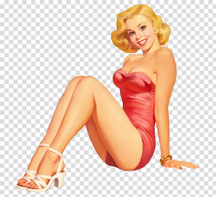 Ning Vintage pin up girls Pics, woman wearing pink dress.