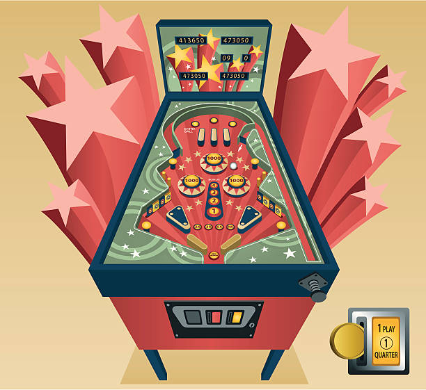 Best Pinball Machine Illustrations, Royalty.